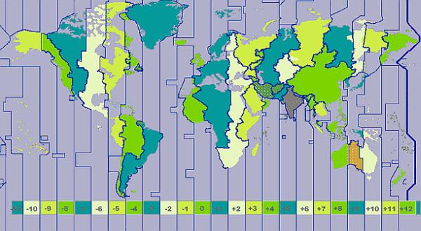 ONLINE Wereld Tijden Map