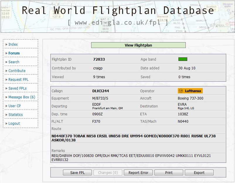 LOGO RealWorldFlightplanDatabase